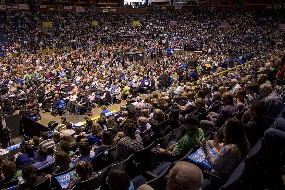 The 2018 Democratic State Assembly at the 1stBank Center in Broomfield, April 14, 2018. (Kevin J. Beaty/Denverite)  copolitics; broomfield; colorado; politics; election; kevinjbeaty; denverite;