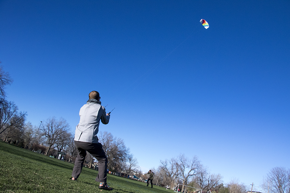 Go fly a kite on a very windy day, April 18, 2018. (Kevin J. Beaty/Denverite)