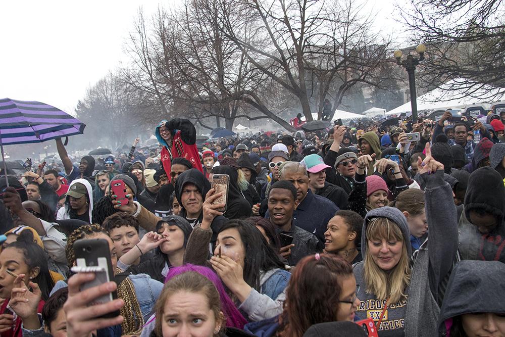 Denver's 2018 Mile High 420 Festival, April 20, 2018. (Kevin J. Beaty/Denverite)
