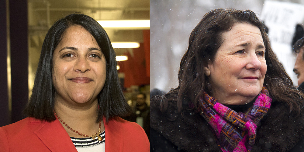 Saira Rao (left) and U.S. Congresswoman Diana DeGette. (Kevin J. Beaty/Denverite)