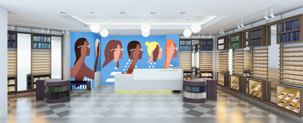 Rendering of the Cherry Creek Warby Parker. (Courtesy of Derris)