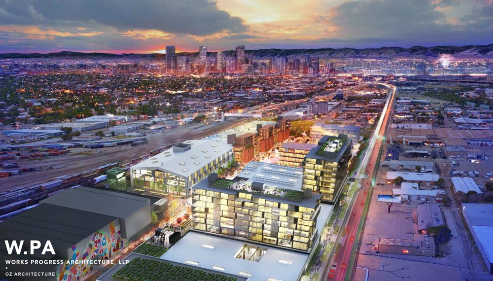 Artist's rendering of the North Wynkoop development. (Works Progress Architecture)