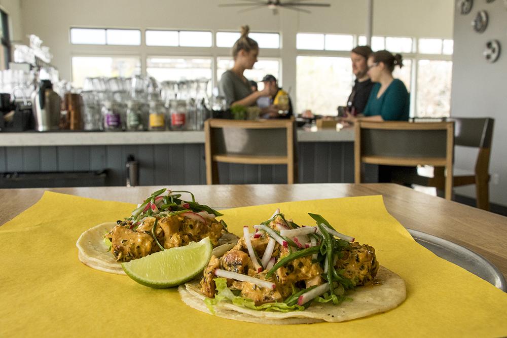 Korean barbecue tacos at BorraCho inside Avanti Food and Beverage, May 1, 2018. (Kevin J. Beaty/Denverite)