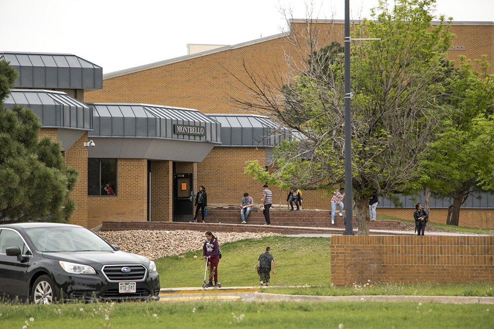 The Montbello Campus, home to three high schools in northeast Denver, May 7, 2018. (Kevin J. Beaty/Denverite)  high school; education; denver; colorado; denverite; montbello; kevinjbeaty;