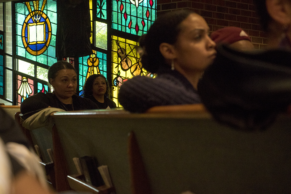 The Black Parent Empowerment Summit at Shorter Community AME Church, May 12, 2018. (Kevin J. Beaty/Denverite)  denver; colorado; denverite; education; shorter community ame church; activism; kevinjbeaty; skyland;