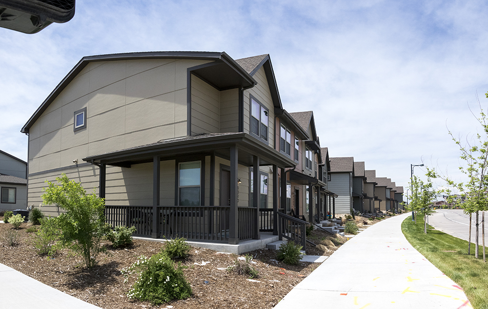 Affordable housing units in Stapleton, May 22, 2018. (Kevin J. Beaty/Denverite)