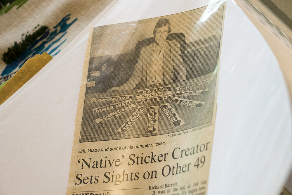 """'Native' Sticker Creator Sets Sights on Other 49,""  published in the Denver Post. (Kevin J. Beaty/Denverite)  denver; colorado; denverite; kevinjbeaty; colorado native;"
