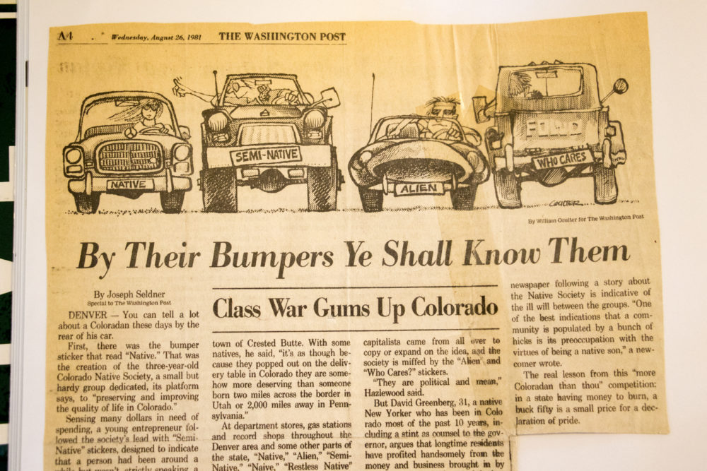 """By Their Bumbers Ye Shall Know Them,"" from The Washington Post, Aug. 26, 1981. (Kevin J. Beaty/Denverite)  denver; colorado; denverite; kevinjbeaty; colorado native;"
