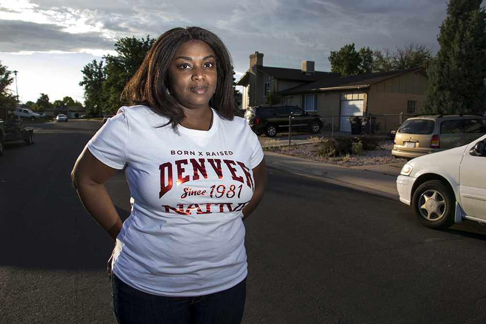 Shayla Richard in her Montbello neighborhood, May 30, 2018. (Kevin J. Beaty)  denver; colorado; denverite; kevinjbeaty;