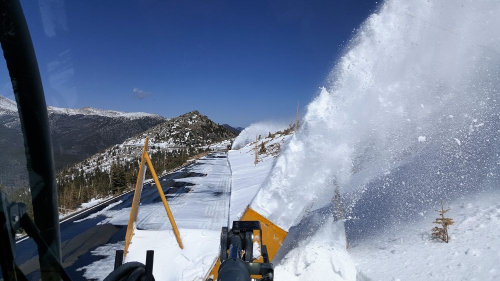 Above Rainbow Curve on Trail Ridge Road on April 27. (Courtesy of RMNP)