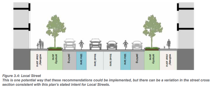 A potential layout for local streets in the Central Platte Valley and Auraria neighborhoods. (Courtesy of Denver CPD)