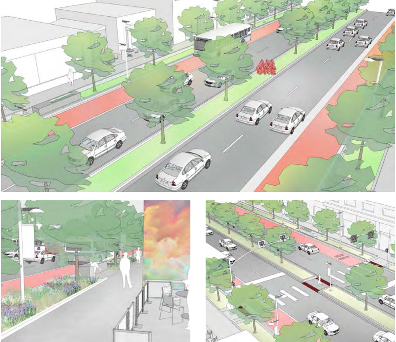 An illustration of Federal Boulevard changes proposed in a corridor plan. (City and County of Denver)