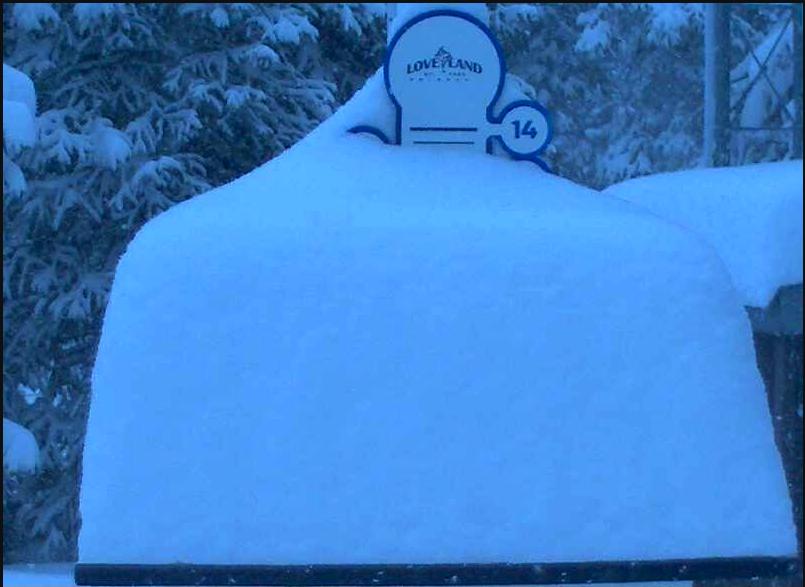 Loveland Ski Area at 8:30 a.m. on May 3, 2018. (Courtesy Loveland Ski Area)