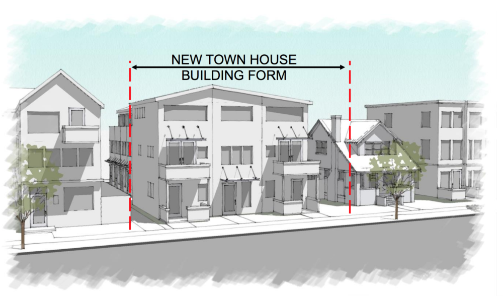"An example of how new town-house buildings could look in Denver's ""MU"" areas. (City and County of Denver)"