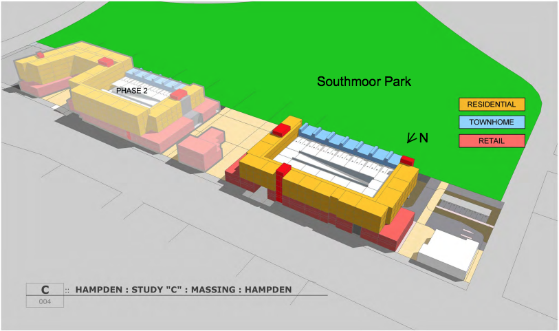 """A slide from an RNL Design study of """"Parkside"""" commissioned by the city and county of Denver."""