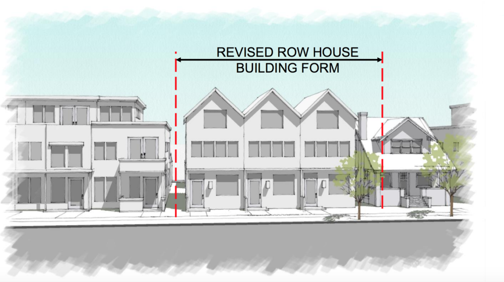 An example of how new -row-house buildings could look in Denver. (City and County of Denver)