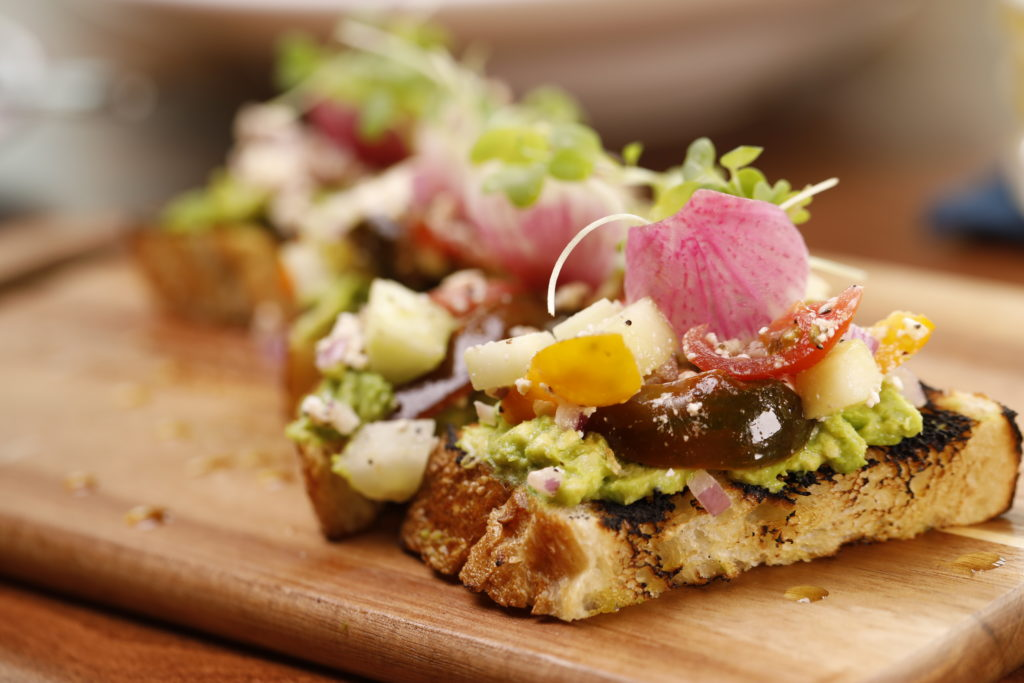 The avocado toast at the Officers Club. (Photo: Marc Piscotty)