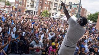 Jadakiss plays a free show during Five Points' annual Juneteenth celebration, June 16, 2018. (Kevin J. Beaty/Denverite)
