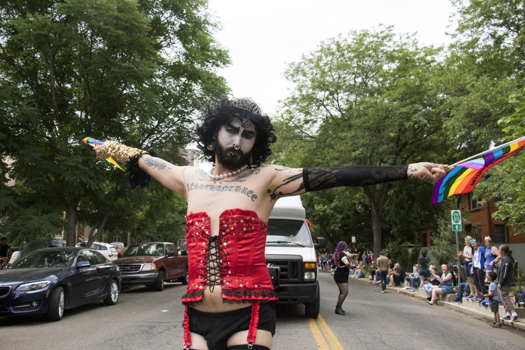 The Denver PrideFest parade, June 17, 2018. (Kevin J. Beaty/Denverite)