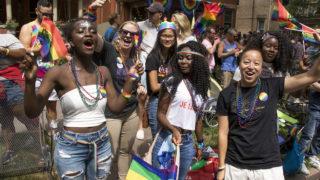 The Denver PrideFest parade, June 17, 2018. (Kevin J. Beaty/Denverite)