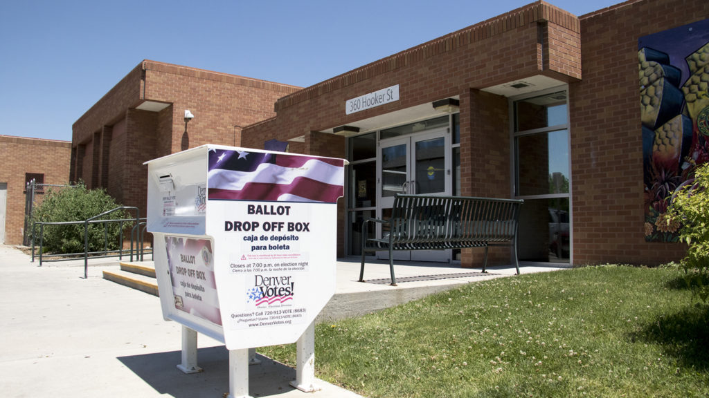 Primary election day at the Barnum Recreation Center, June 26, 2018. (Kevin J. Beaty/Denverite)