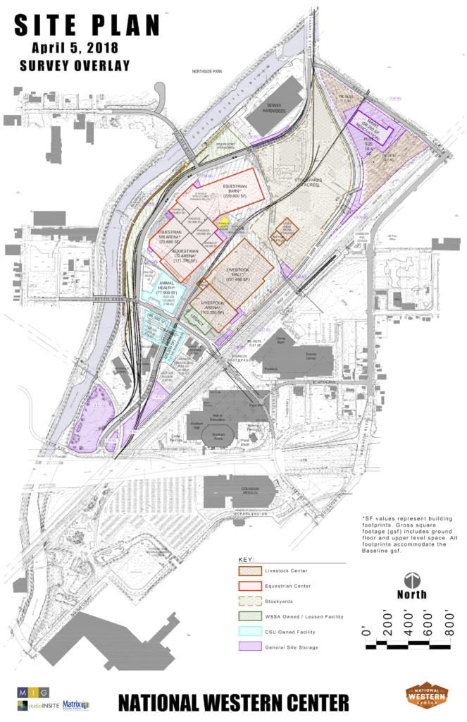 A site plan for the National Western Center. (Courtesy City and County of Denver)