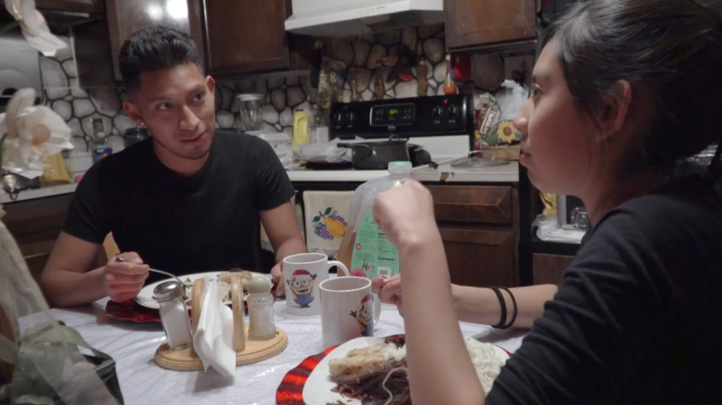"Ebert John Kennedy Canari Santana, a DACA recipient from Peru, in a scene from ""Dreamers,"" a documentary directed by Dick Alweis. (Courtesy: Dick Alweis)"