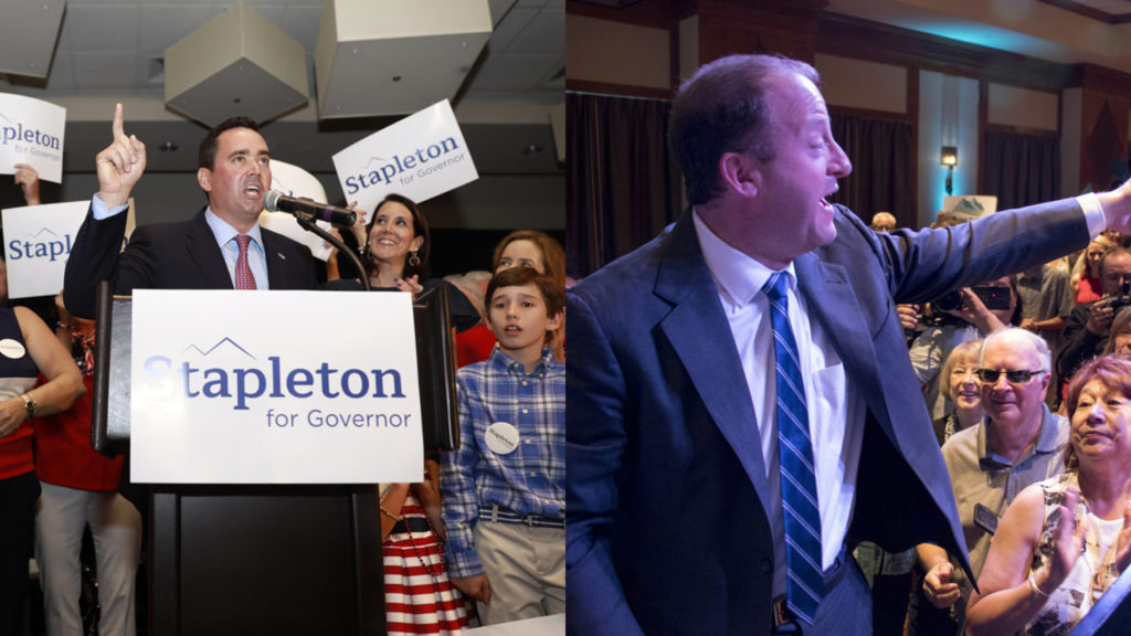 Colorado gubernatorial candidate Walker Stapleton (left) and Jared Polis. (Alyson McClaran and Kevin J. Beaty/Denverite)