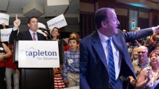 Colorado gubernatorial candidate Walker Stapleton (left) and Jared Polis. (Alyson McClaran and Kevin J. Beaty/Denverite)