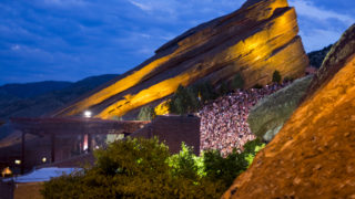 Sylvan Esso plays Red Rocks, July 18, 2018. (Courtesy Kevin J. Beaty)