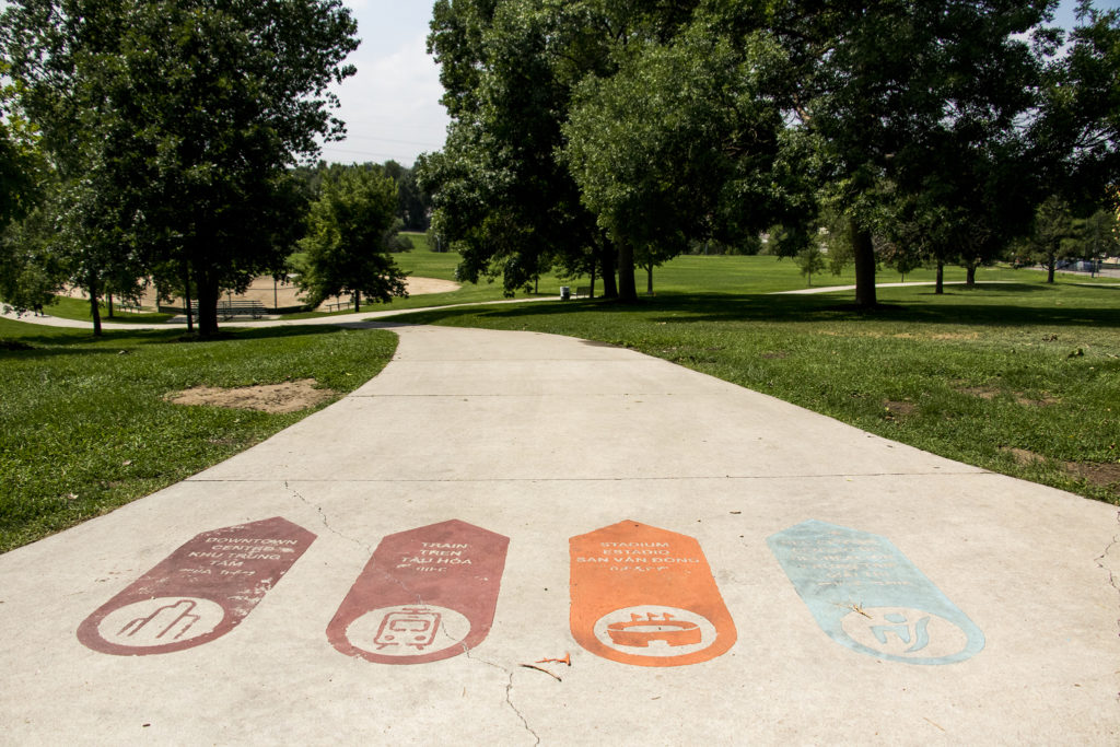 Paco Sanchez Park in Denver's West Colfax neighborhood, July 26, 2018. (Kevin J. Beaty/Denverite)