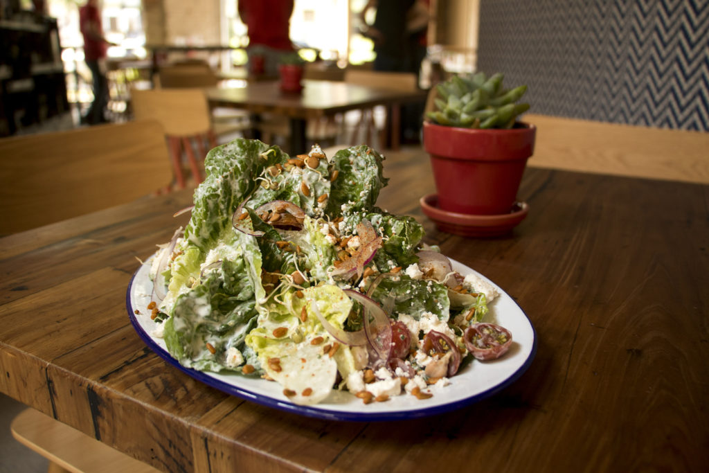 Lil' Gems, a salad available at Leven Deli Co. on 12th Avenue, July 27, 2018. (Kevin J. Beaty/Denverite)