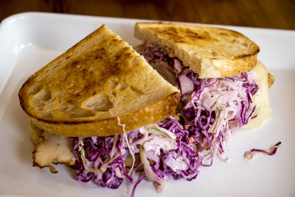 The No. 18, a turkey reuben available at Leven Deli Co. on 12th Avenue, July 27, 2018. (Kevin J. Beaty/Denverite)