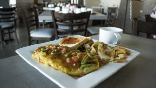 A veggie omlette at Intersections Coffee in Stapleton, July 31, 2018. (Kevin J. Beaty/Denverite)