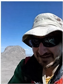A photo of Brian Perri taken on Mt. Meeker before he went missing.