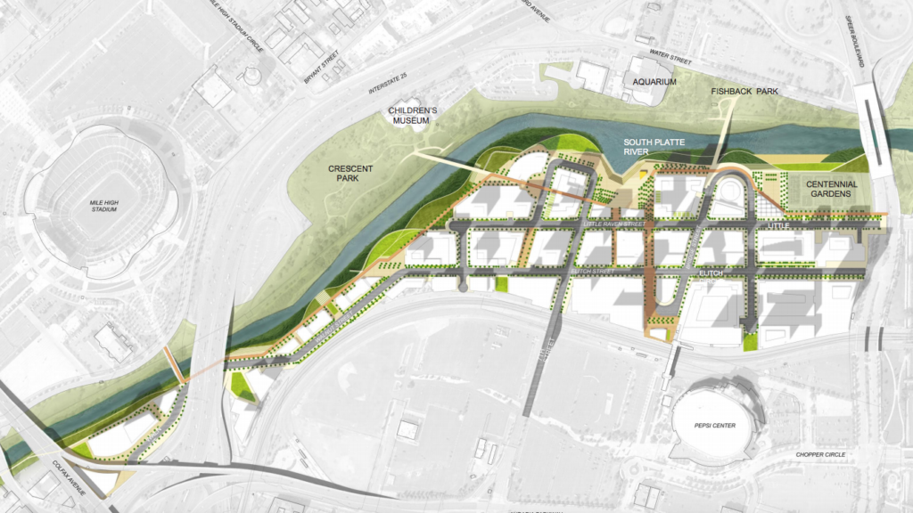A map of the potential layout of River Mile. (Revesco Properties)