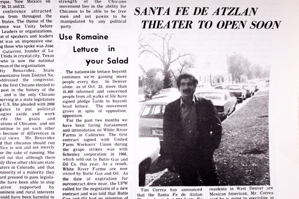 Tim Correa appears on The West Side Recorder, November, 1972.