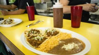 Tacos at El Taco De Mexico, Santa Fe Drive, Aug. 6, 2018. (Kevin J. Beaty/Denverite)