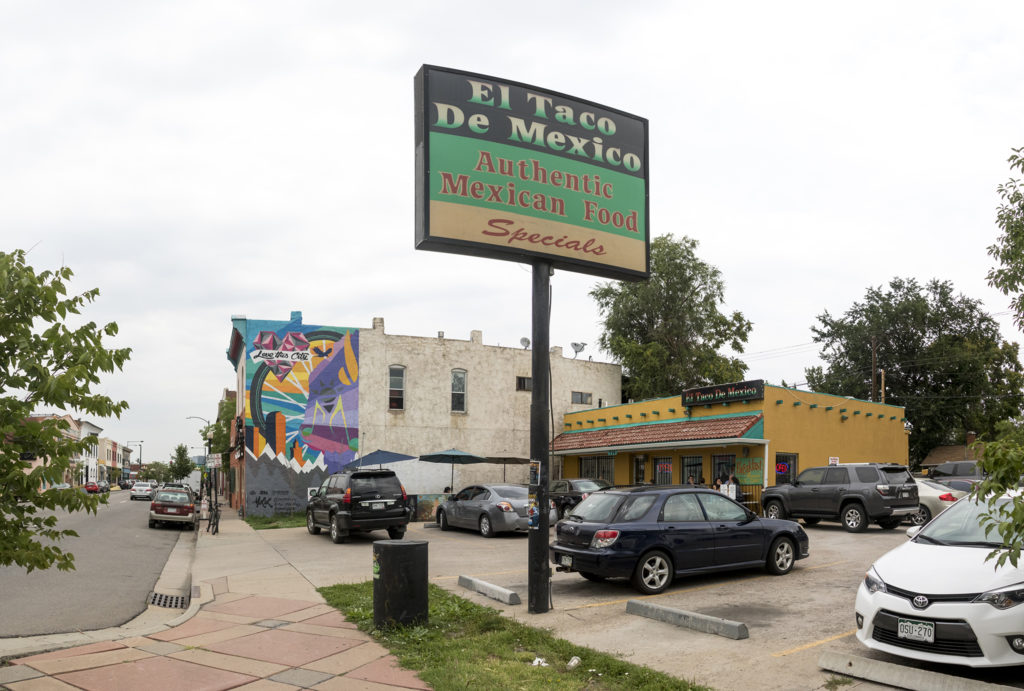 El Taco De Mexico, Santa Fe Drive, Aug. 6, 2018. (Kevin J. Beaty/Denverite)