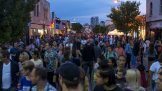 First Friday on Santa Fe Drive, Aug. 3, 2018. (Kevin J. Beaty/Denverite)