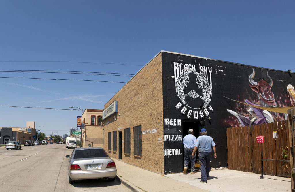 Black Sky Brewery on Santa Fe Drive, Aug. 8, 2018. (Kevin J. Beaty/Denverite)