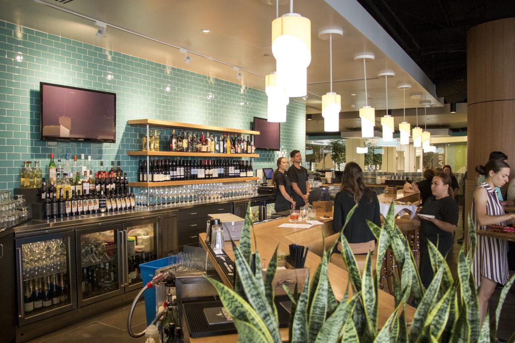 Mila, the new restaurant at Denver Place downtown, Aug. 28, 2018. (Kevin J. Beaty/Denverite)