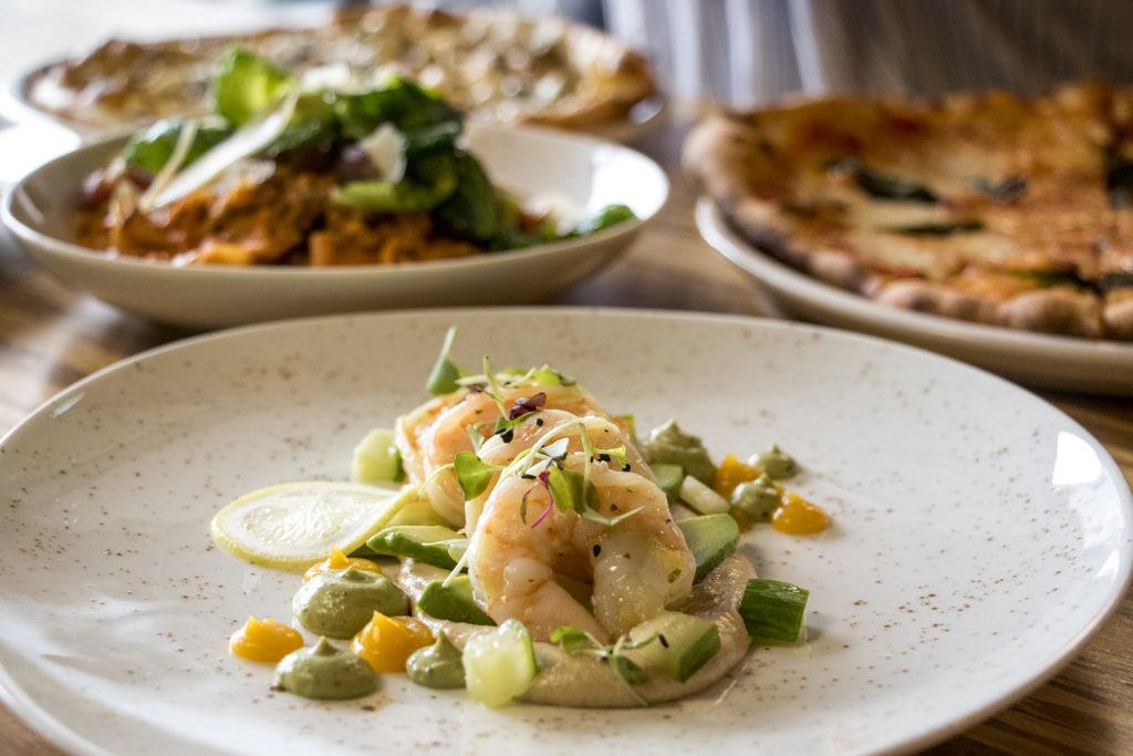 Gulf Shrimp Escabeche at Mila, the new restaurant at Denver Place downtown, Aug. 28, 2018. (Kevin J. Beaty/Denverite)