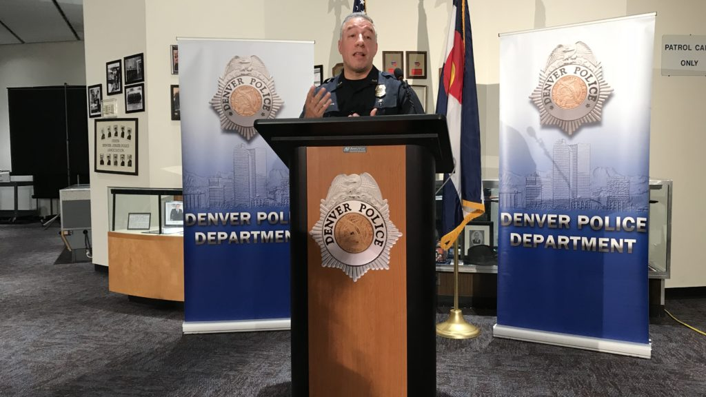 Division Chief of Investigation Joe Montoya during a press conference related to the death of 7 year old Jordan Vong. (Esteban L. Hernandez / Denverite)