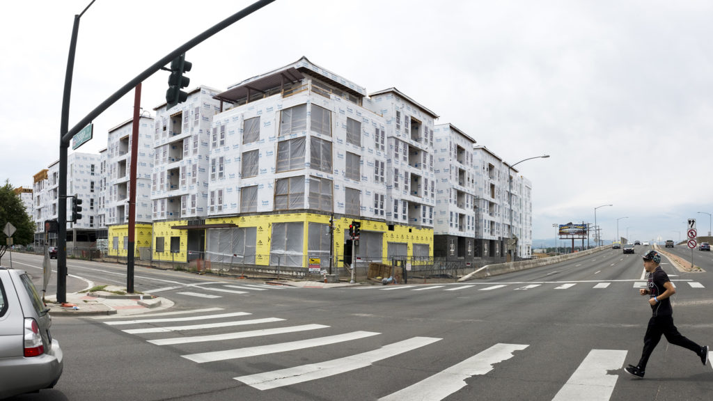 The Wellington Apartments at Colfax Avenue and Osage Street, Sept. 3, 2018. (Kevin J. Beaty/Denverite)