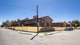 Public housing run by Denver Housing Authority that's been vacated and set for redevelopment in  Sun Valley, Sept. 12, 2018. (Kevin J. Beaty/Denverite)