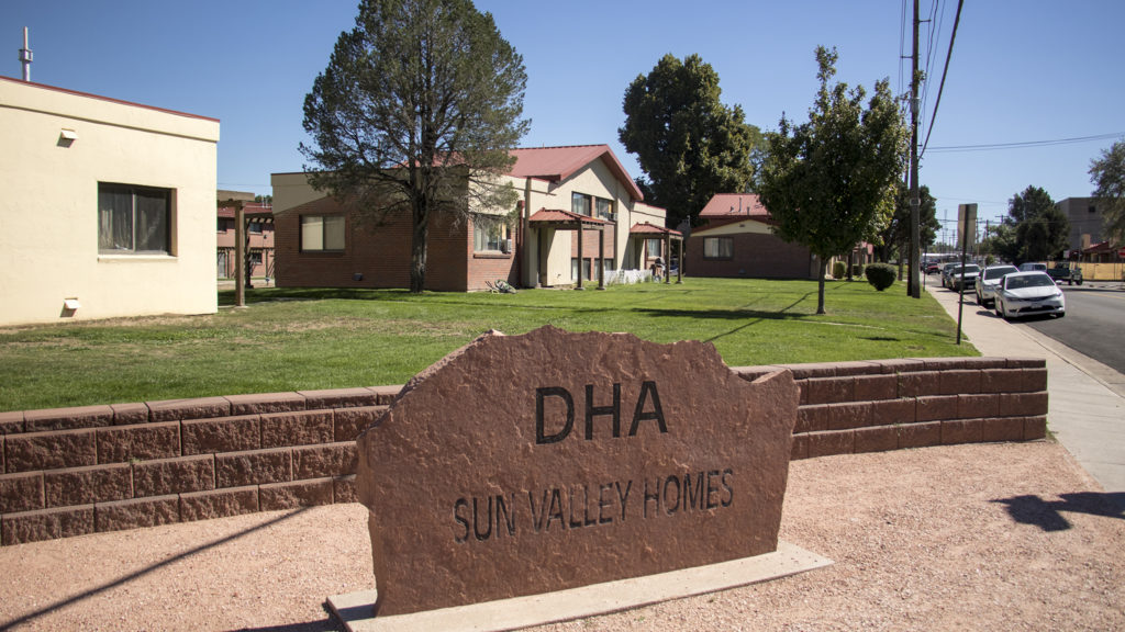 Public housing run by Denver Housing Authority in  Sun Valley, Sept. 12, 2018. (Kevin J. Beaty/Denverite)