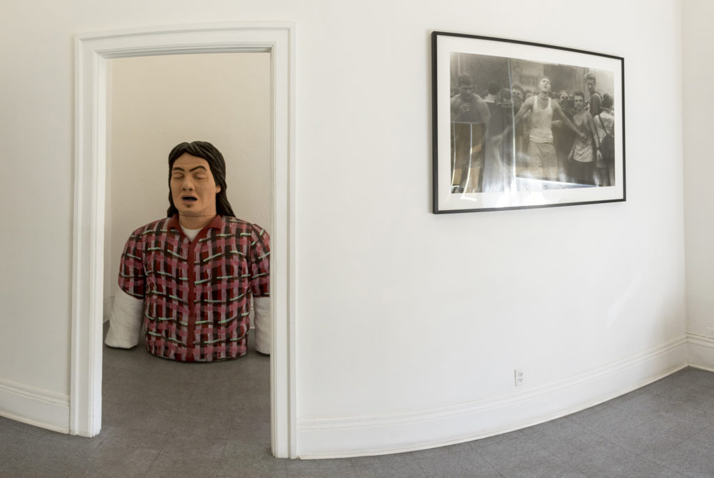 Art at the Dikeou Collection inside the Colorado Building at California and 16th Streets, Sept. 26, 2018. (Kevin J. Beaty/Denverite)
