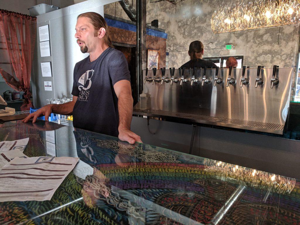 Wayne Burns of Burns Artisan Ales. (Eric Gorksi/Special to Denverite)
