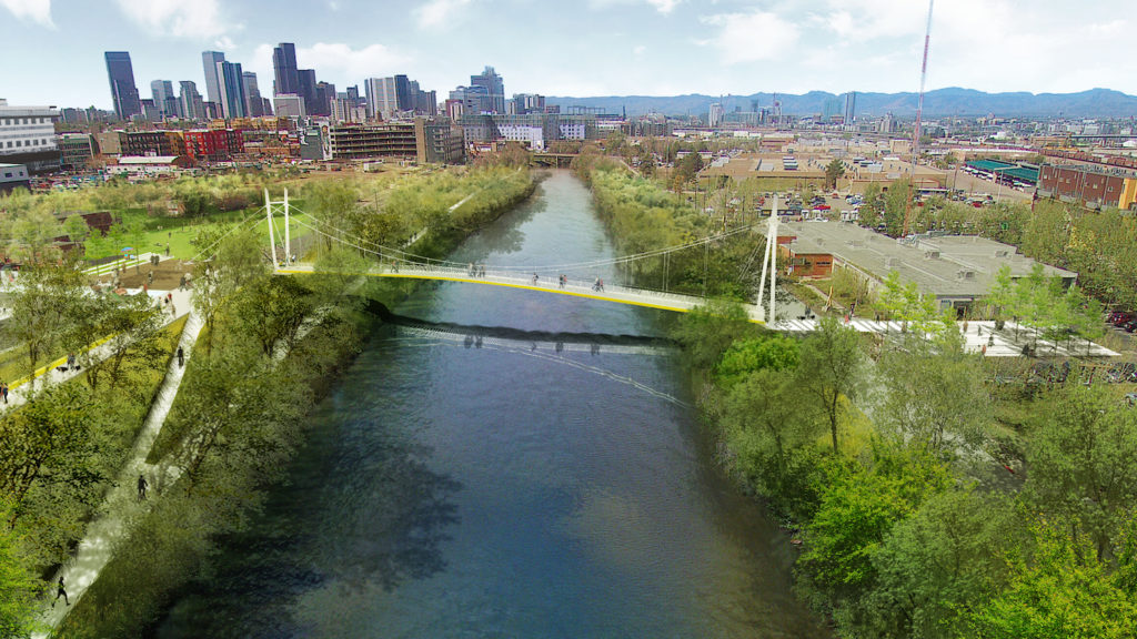 A rendering of the bridge that was originally slated for summer 2019. (Wenk Associates)